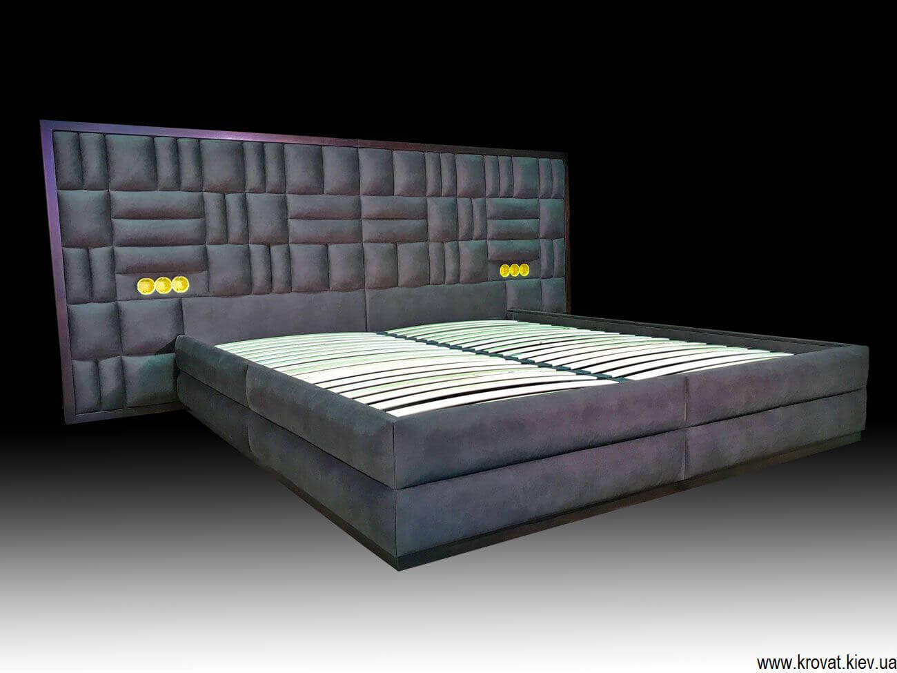 Двуспальная кровать с ящиком своими руками
