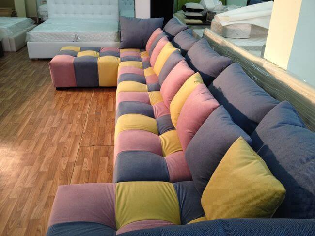 П образный диван в кинозал