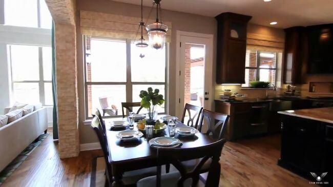 красивый кухонный стол