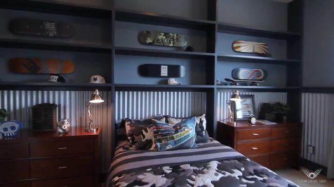 красивая кровать для школьника
