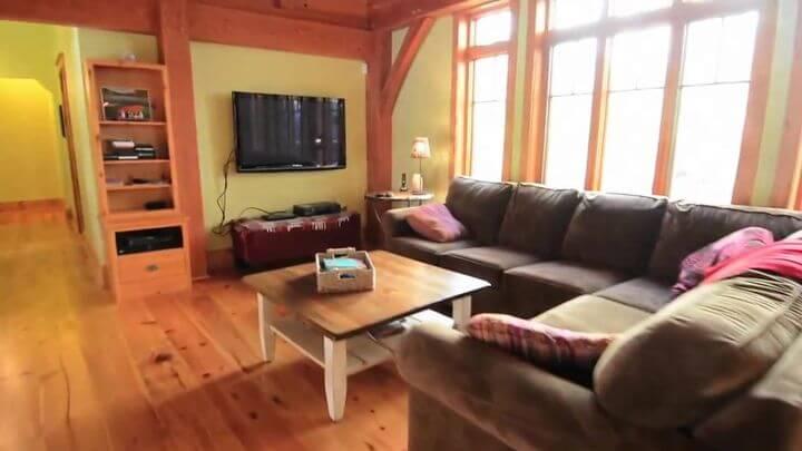 деревянный столик для гостиной