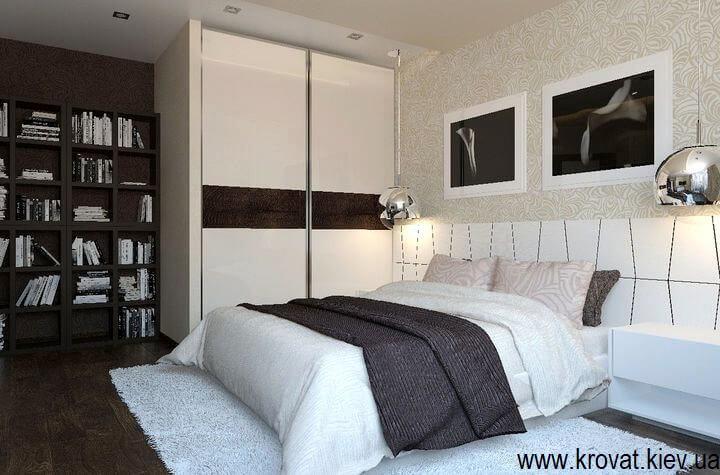 3d дизайн кровати с большой спинкой
