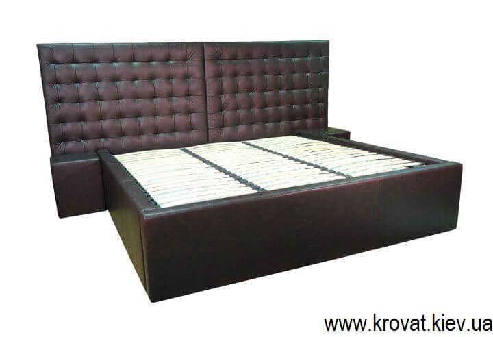 кровать на заказ в коже