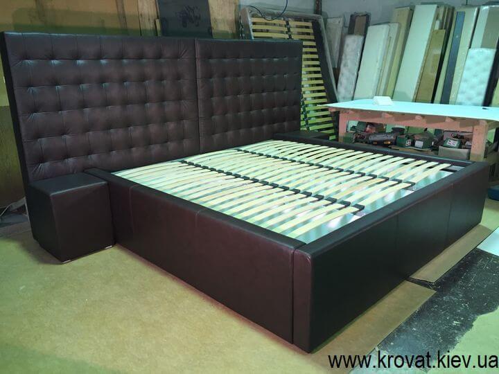 кровать из кожи на заказ