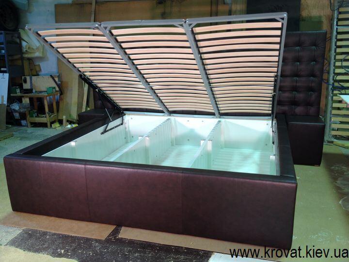кровать с большим коробом
