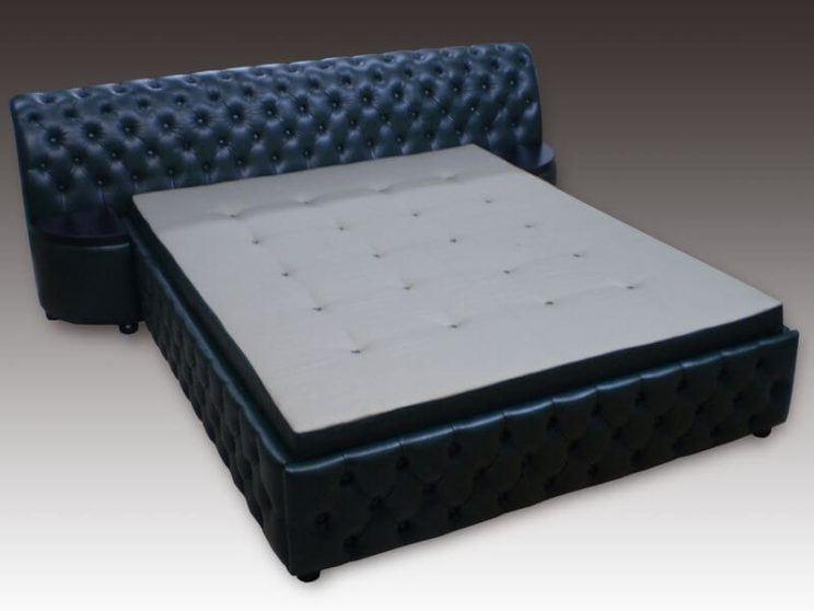 ліжко Честер в шкірі на замовлення