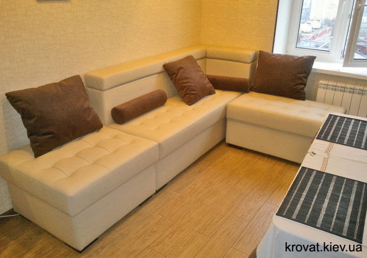 шкіряний диван на кухню під замовлення