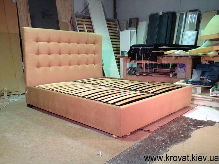 двоспальні ліжка з підйомним механізмом