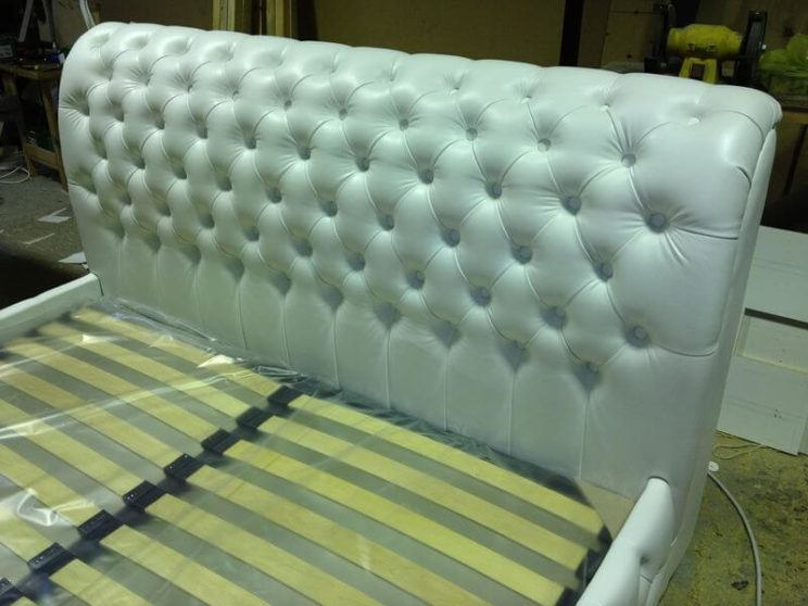 Chester upholstered ottoman bed frame