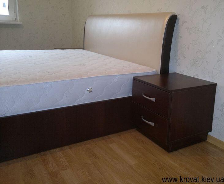 ліжко Вікторія з тумбочками на замовлення