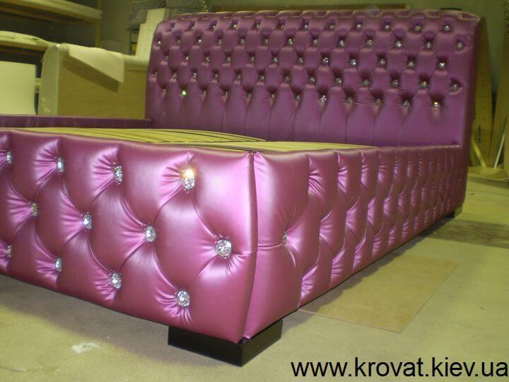 фиолетовая кровать на заказ