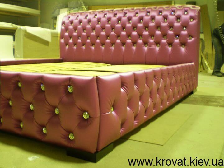фиолетовая кровать со Сваровски на заказ