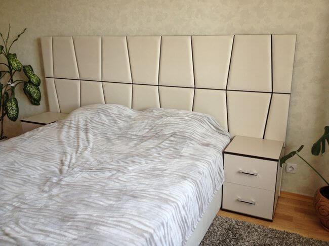 широкая кровать Верона в интерьере спальни