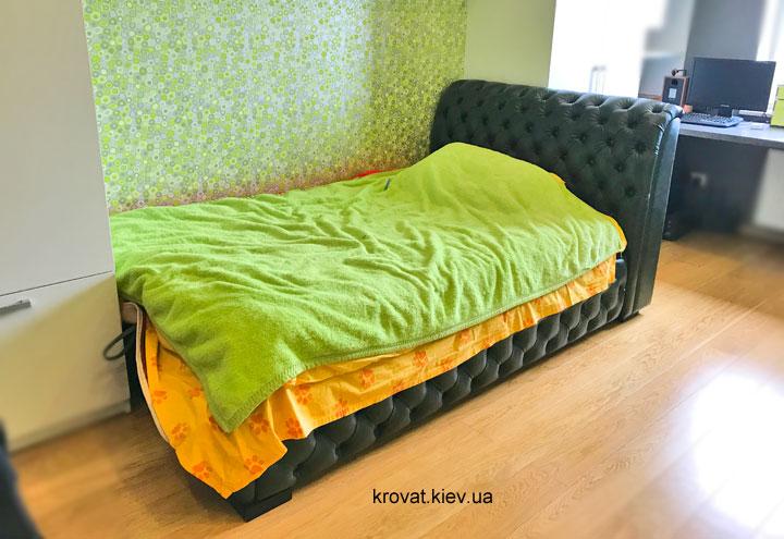 полуторне ліжко честер в шкірі на замовлення