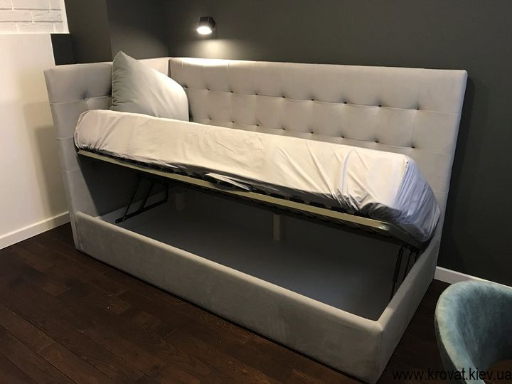 кровать для подростка с ящиком для белья на заказ