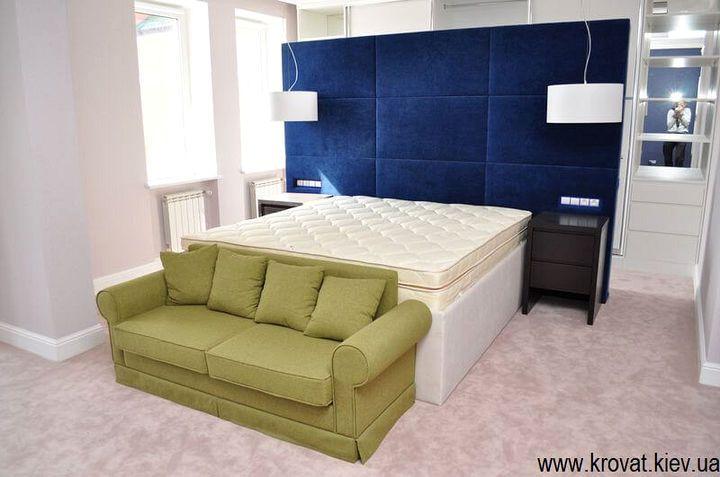 кровать с высоким изголовьем на заказ