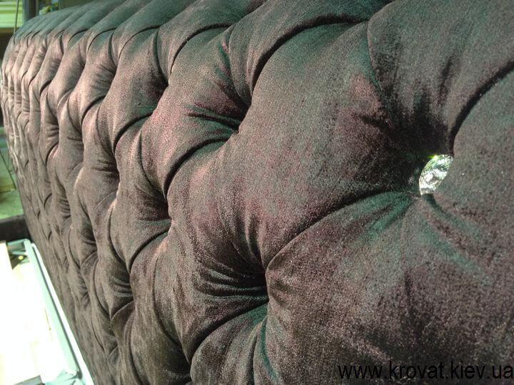 ліжко з камінням Сваровскі на замовлення