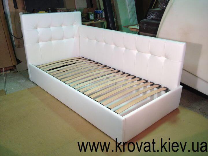 біле ліжко для підлітка на замовлення