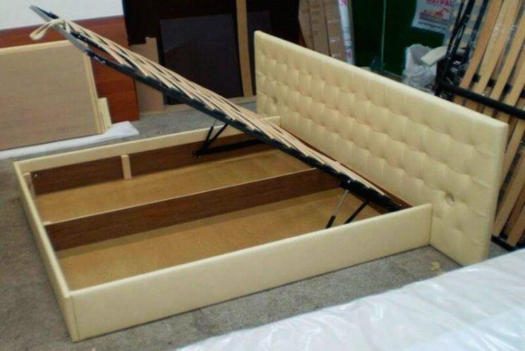 ліжко Карина з ящиком для білизни на замовлення
