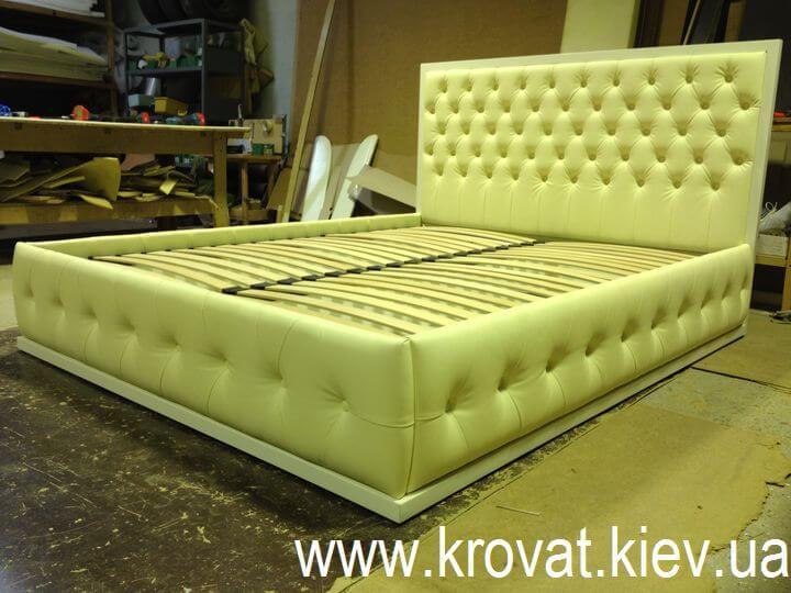 кровать Марго с деревянным обрамлением на заказ