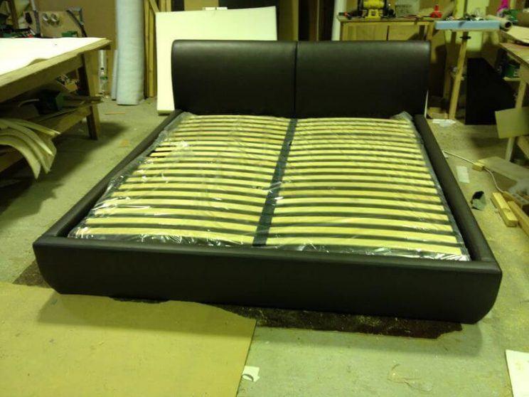 кровать с невысокой спинкой на заказ