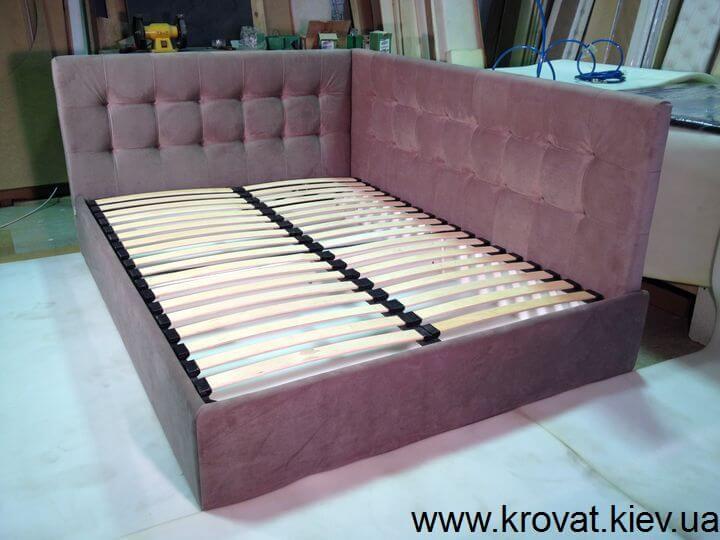 ліжко з кутовою спинкою на замовлення