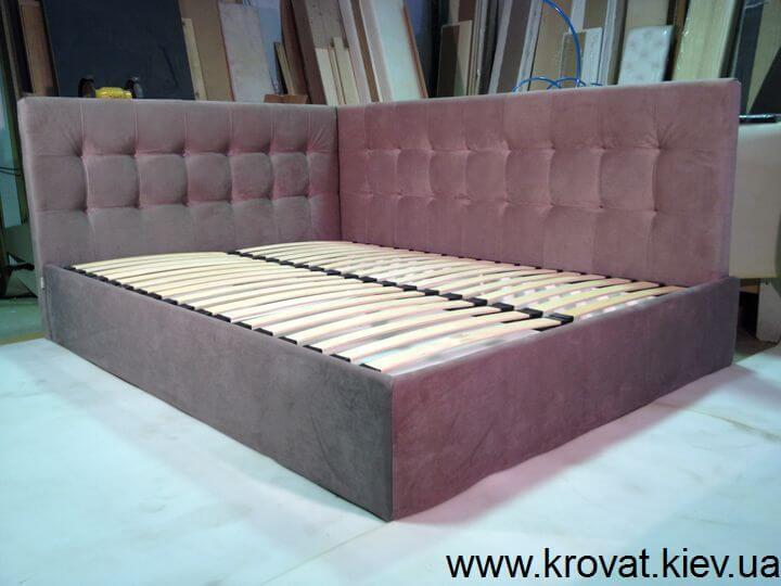 ліжко з кутовим узголів'ям на замовлення