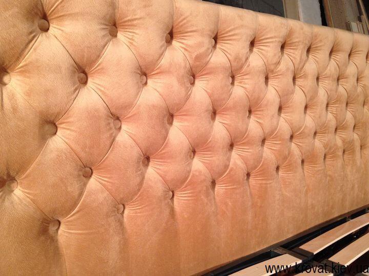 боковая спинка кровати с капитоне на заказ
