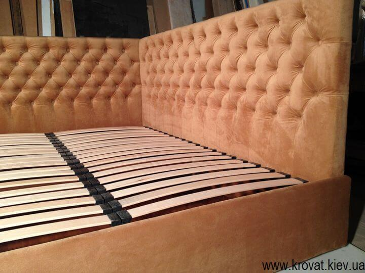 кровать в угол комнаты на заказ