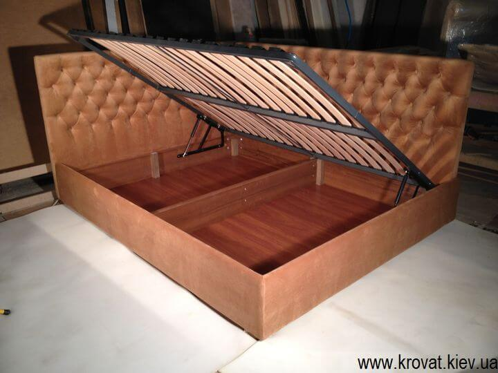 кутове ліжко з капітоне на замовлення