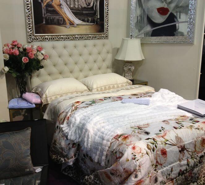 Ліжко Елізабет в інтер'єрі спальні на замовлення