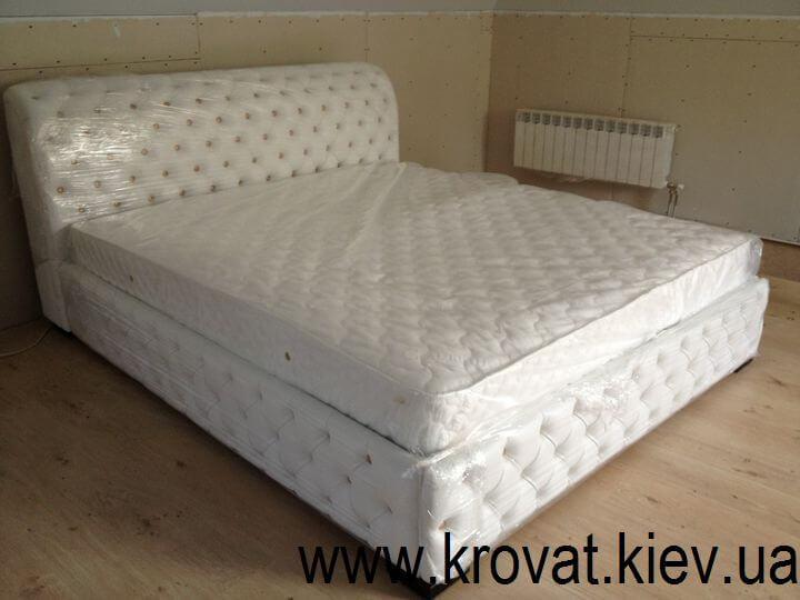 ліжко Честер зі шкірозамінника