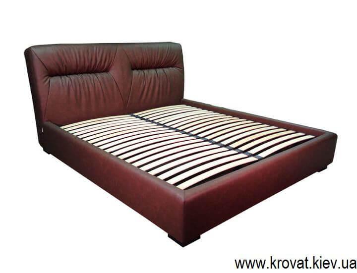 ліжко Марсель в коричневому кожзамі на замовлення