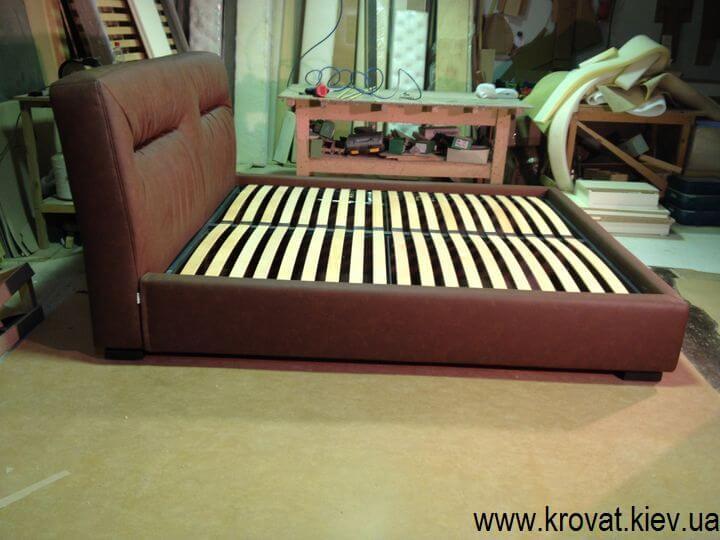 кровать в кожзаме на заказ