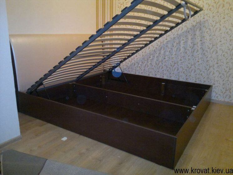 кровать Виктория с газовым подъемным механизмом на заказ