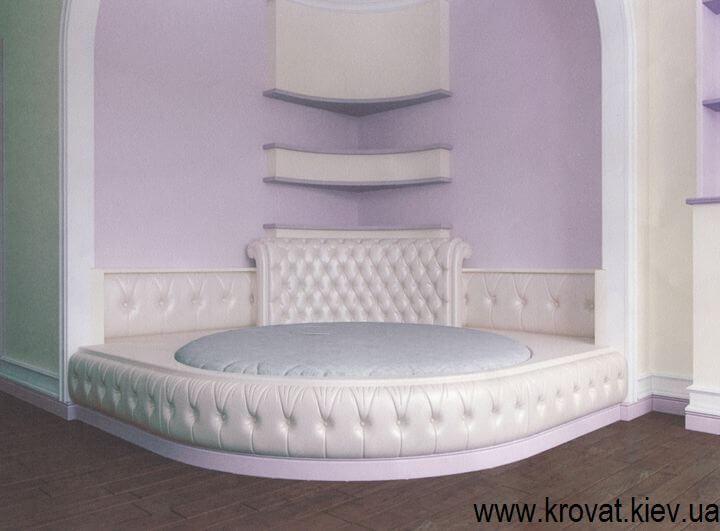 3d визуализация полукруглой кровати