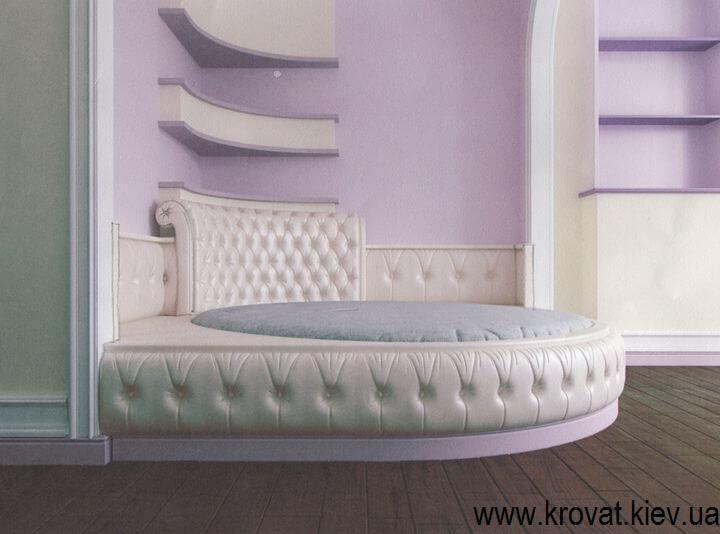 3d визуализация овальной кровати