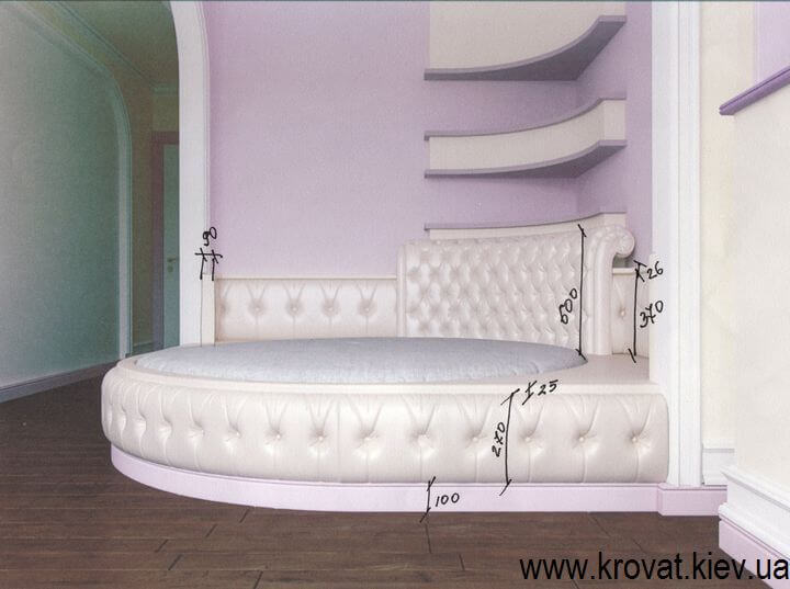 3d визуализация круглой кровати