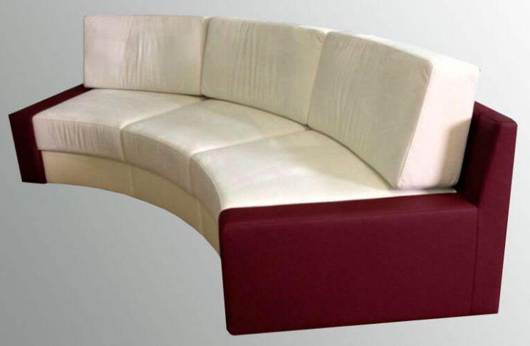 мягкий полукруглый диван