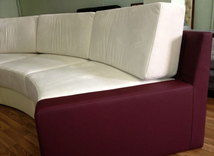 полукруглый диван производство