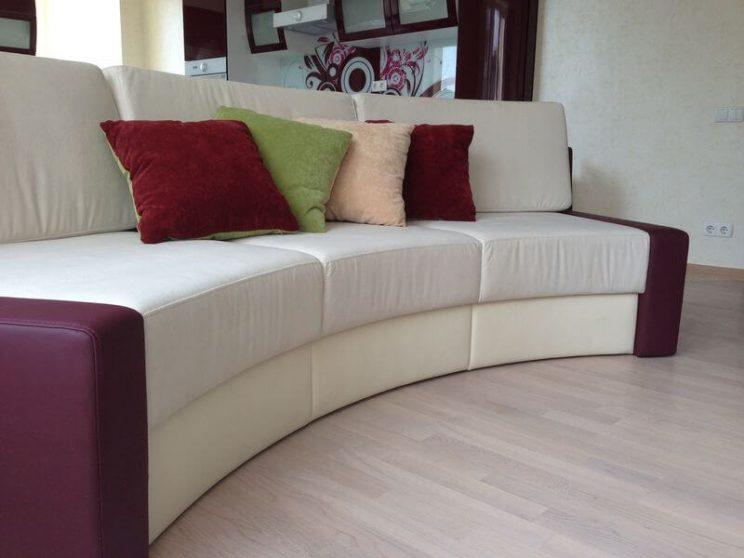 радіусный диван виробництво