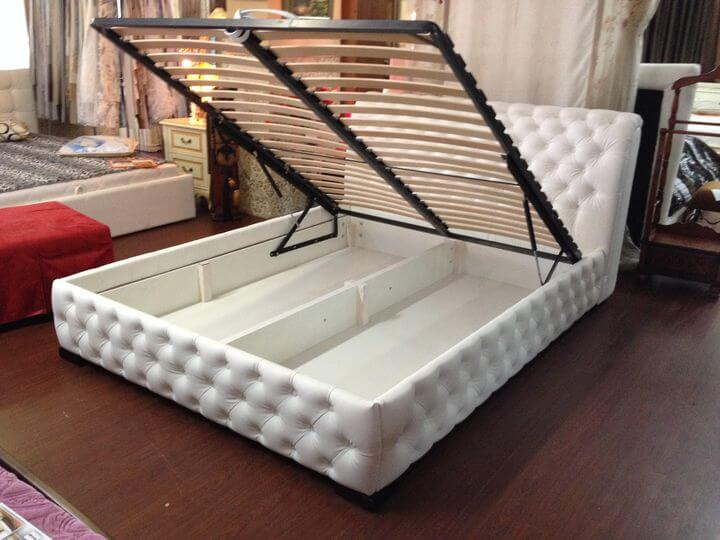 upholstered ottoman bed frame on order