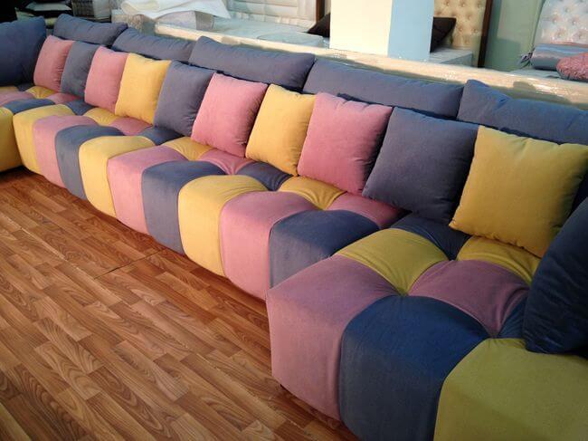 диван в кубики