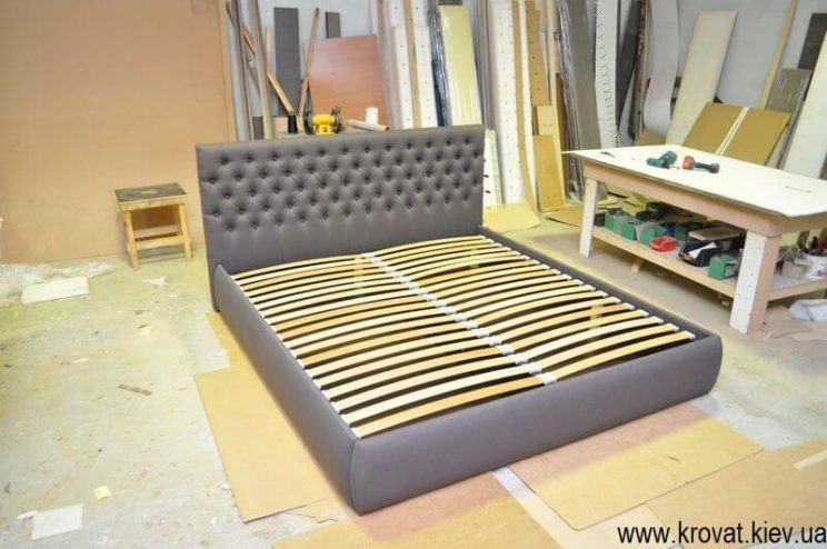 изготовление кроватей с капитоне