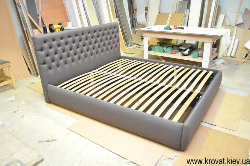 двуспальная кровать Виченца с каретной стяжкой