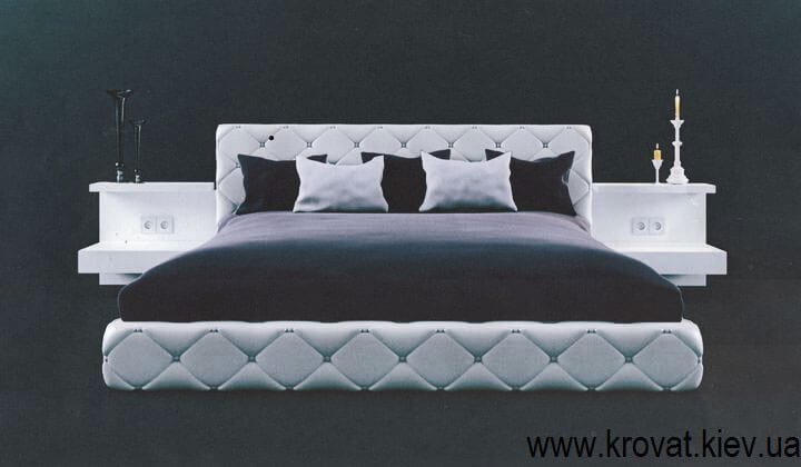 3d визуализация кровати в современном стиле