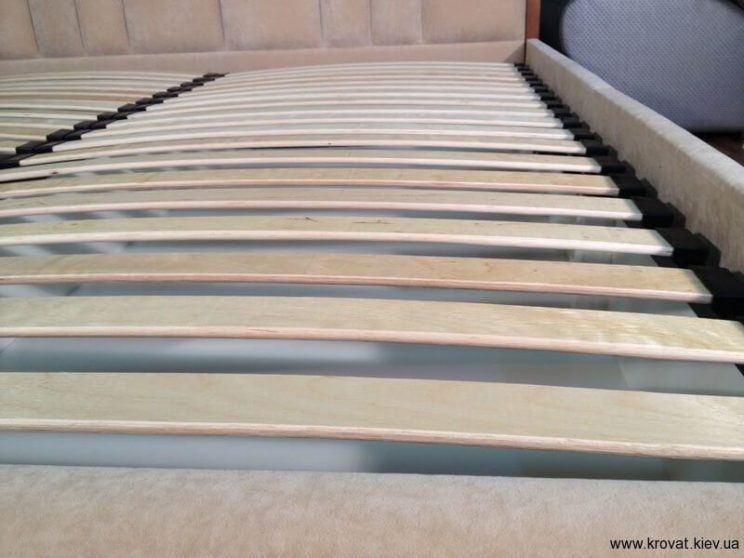 основание кровати с ламелями