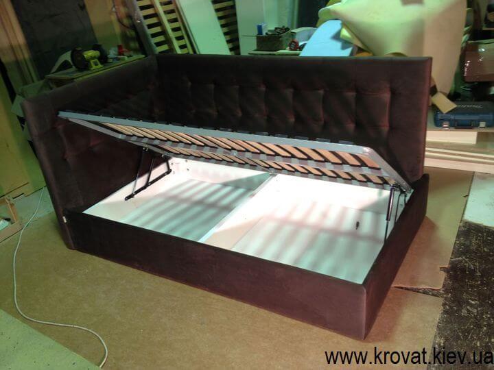 кутові ліжка з коробом