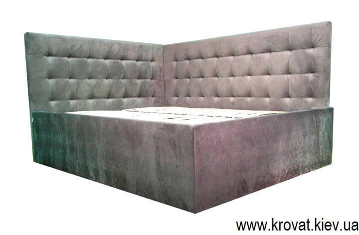 Угловая кровать для спальни