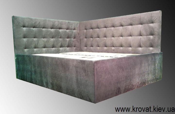 Угловая кровать в спальню